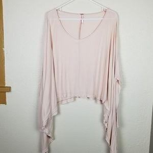 Free People  pink oversized long sleeve